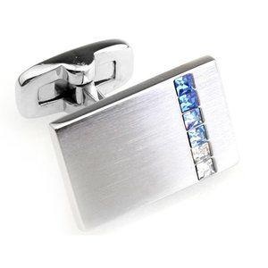 NEW Blue Faceted Swarovski Crystal Cufflinks